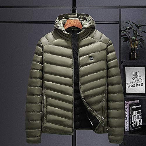 Heren verwarmde jas elektrische lichaamsverwarmer jas elektrisch verwarmd vest buiten mantel winter tops USB verwarming met capuchon design katoen warme mantel