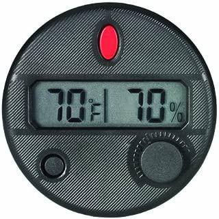 Quality Importers HygroSet Front Mount Adjustable Digital Hygrometer