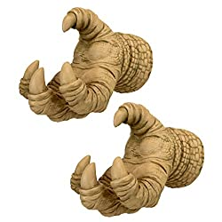 Design Toscano NG32489  Talons of the Dunheviel Dragon Decor Wall Hanger Sculptures, 7 Inch, Set of Two, Gothic Stone, 2 Count
