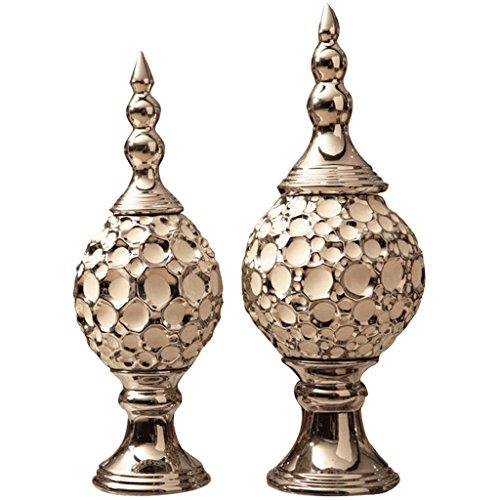 klassieke luxe keramiek Zilver plating Home decoraties Wijnkast indoor woonkamer salontafel TV kast bureau Wedding Gifts