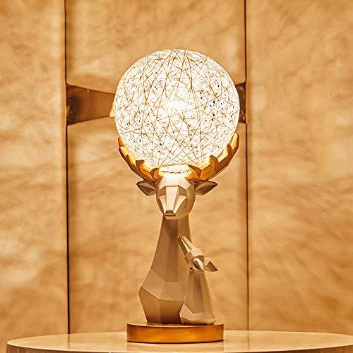 DKEE Lámparas de Mesa Regalo De Boda Creativo Boudoir Lámpara For Enviar Regalos De Compromiso Miel Nuevas Decoraciones Creativas Adornos Regalo De Inauguración Práctica 18 * 43cm