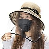 (シッギ)Siggi uvカット帽子 レディース 麦わら帽子 つば広 ハット 日よけ帽子 ストローハット 熱中症対策 日除け防止 日焼け止め 紫外線対策 婦人用 女優帽 大きいサイズ 夏用 折りたたみ 自転車 ベージュ