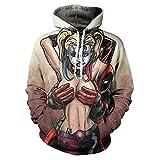 YJXDBABY-Deadpool-Chaqueta con Capucha de Hip-Hop para Hombre Impresa en 3D,Top Deportivo Casual de Manga Larga,Sudadera con Capucha y Bolsillo Canguro con cordón-M
