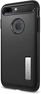 【Spigen】 スマホケース iPhone8 Plus ケース / iPhone7 Plus ケース 対応 MIL規格取得 スタンド機能 スリム・アーマー 043CS20648 (ブラック)