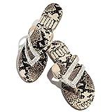 STZJBD Sandalias para Mujer, Sandalias Informales de Verano con Diamantes de imitación Planos, Sandalias cómodas para la Playa, Zapatos Romanos, Chanclas(Size:41,Color:B)