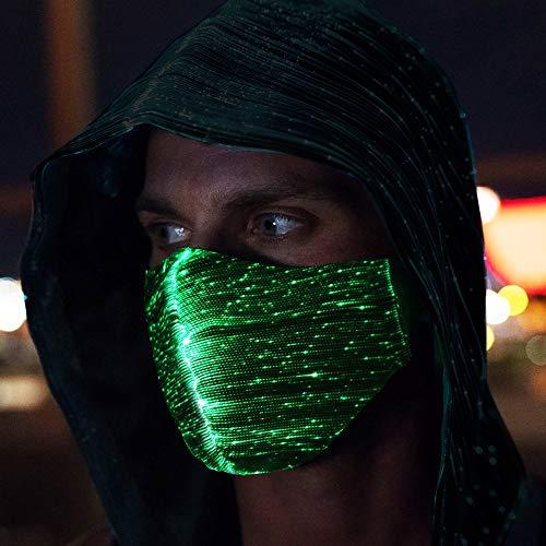 CENOVE LED Rave Mask, 7 Farben und 5 Blitzmodi Halloween LED Maske für Erwachsene Kind, Partei, Weihnachten, Karneval und Kostüm-Partei