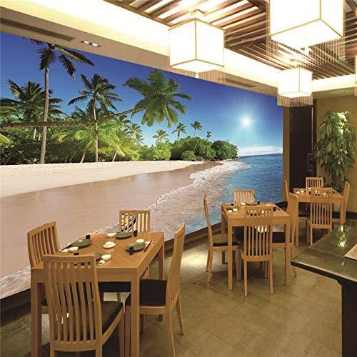 Fotobehang 3D Strand Coco behang woonkamer slaapkamer TV achtergrond muur decoratie 350x250CM