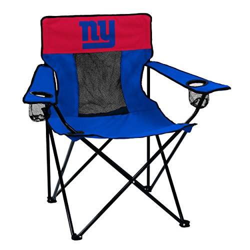 Logo Brands Officially Licensed NFL New York Giants Unisex Elite Chair, One Size, Team Color
