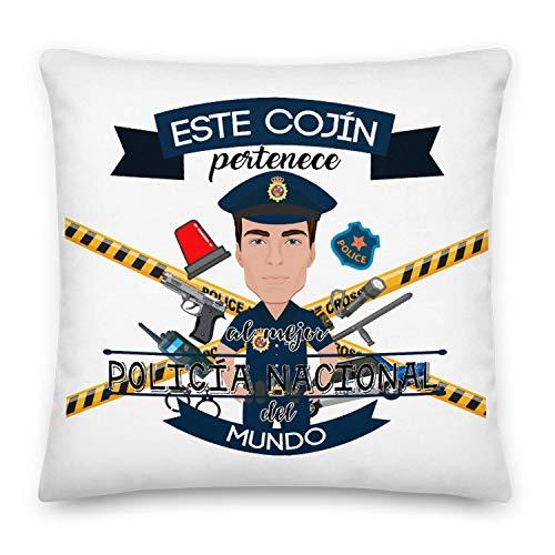 Kembilove Cojín Decorativo del Mejor Policía Nacional del Mundo – Cojines Decorativos para Profesionales – Ultra Suaves y Cómodos Abogados – Decoración para la Habitación o la Sala de Estar