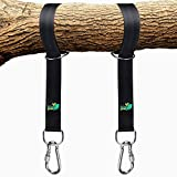 DCAL Gear Tree Swing Hanging Straps Kit - Easy & Fast Installation - 5ft Extra Long Straps Hold 2000 lb - Safer Lock Snap Carabiner Hooks Perfect to Tree Swing, Swing Sets, Tire Swing & Hammock