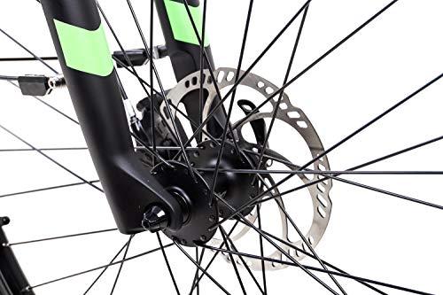 51rxA+68 1L - 28 Zoll Fahrrad TechniBike E Bike Pedelec Riemen N330 Nu Vinci Continental Mittelmotor grau grün Gr.S