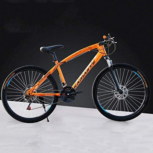 HongLianRiven BMX 26 Inch Mountain Bikes, High-Carbon Steel Hard Tail Bicycle, Lightweight Bicycle with Adjustable Seat, Double Disc Brake, Spring Fork,F,21 Speed 6-20