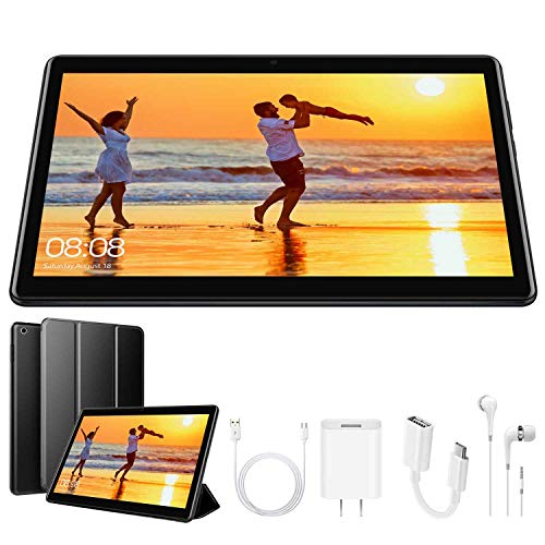 4G Tablet 10.1 Pollici con Wifi Offerte Tablet PC Offerte 8500mAh con Slot per Scheda SIM Doppio Memoria RAM da 3GB+32GB 8MP Camera Android 9.0 Quad C