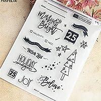 誕生日フラグDIYスクラップブッキング/フォトアルバム用の透明なクリアシリコーンスタンプ/シール装飾的なクリアスタンプシート