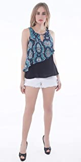 Palm Lagoon Ingrid in Enamel Snake Skin Blue Green Loose Fit Sleeveless Tank Top