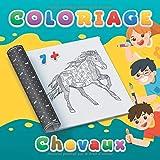 Coloriage chevaux: Cahier de Coloriage enfant de 7-8 ans