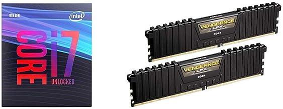 Intel Core i7-9700K Desktop Processor 8 Cores up to 4.9 GHz Turbo Unlocked and Corsair Vengeance LPX 16GB (2x8GB) DDR4 DRA...