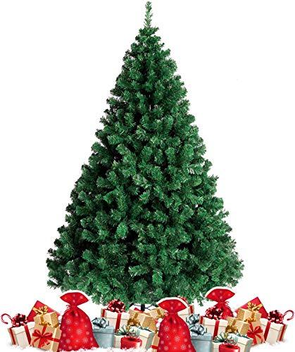 amzdeal 180cm künstlicher Weihnachtsbaum - 750 Zweige voll klappbarer Tannenbaum mit flammhemmendem Material & faltbarem Metallständer, perfekte Weihnachtsdekoration für Hause, Outdoor, Mall, Grün