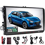 Android9.0 Pie 2GB RAM Autoradio pour VW Golf Skoda Passat Jetta Polo Assise 9 inch 1024 x 600 Head Unit Support GPS Sat NAV Bluetooth Radio Dab + écran WiFi Link SWC