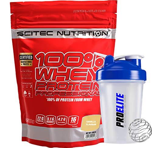 Scitec Nutrition 100% Whey Protein Professional 500g Powder - Vanilla + Shaker