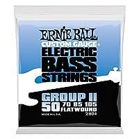 【正規品】 ERNIE BALL 2804 ベース弦 (50-105) FLATWOUND GROUP II BASS フラットワウンド・グループ2 ベース