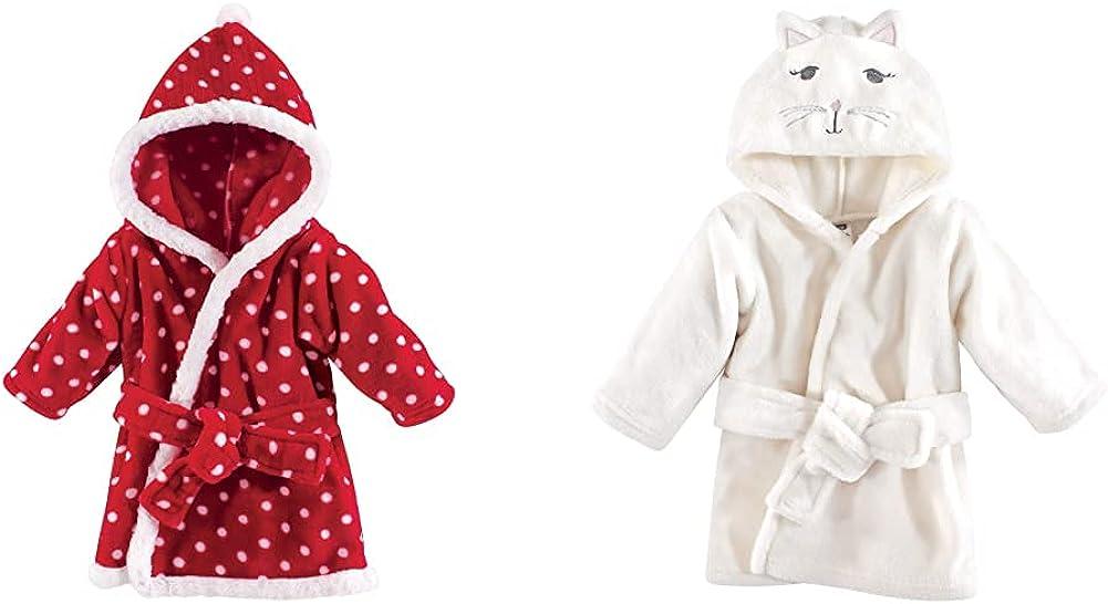 Hudson Quantity limited Baby Girl Plush Animal Face 2-Pack Red Do Polka Super sale Bathrobe
