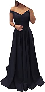 Dressylady Off The Shoulder A Line Long Prom Homecoming Dress Evening Gowns