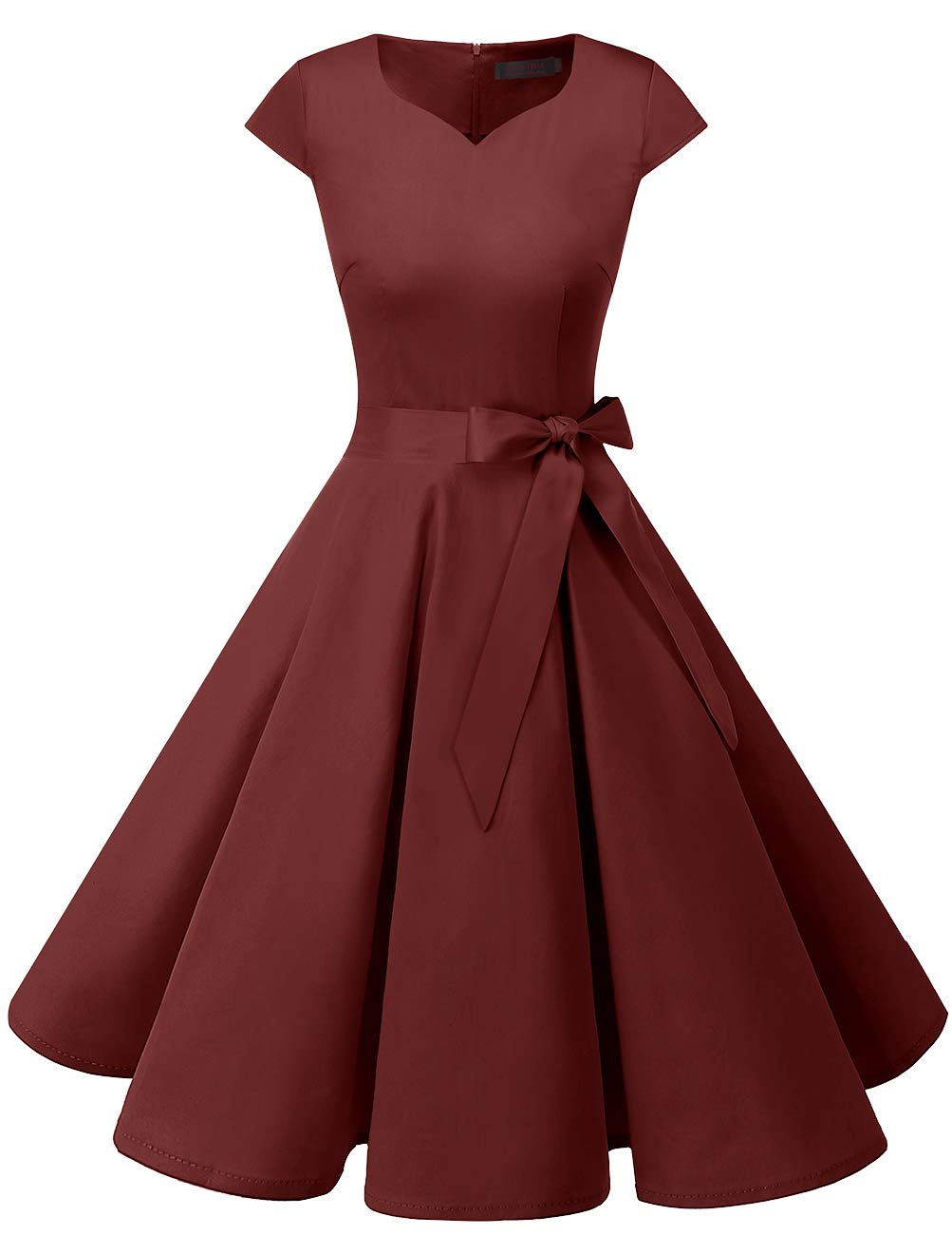 Available at Amazon: DRESSTELLS Women's Vintage Tea Dress Prom Swing Cocktail Party Dress with Cap-Sleeves