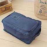 G-RF Organizer Scarpe 2 PCS Sacchetto Impermeabile del Sacchetto di immagazzinaggio Travel Bag Scarpe Portatili Organizer (Grigio) (Color : Navy Blue)