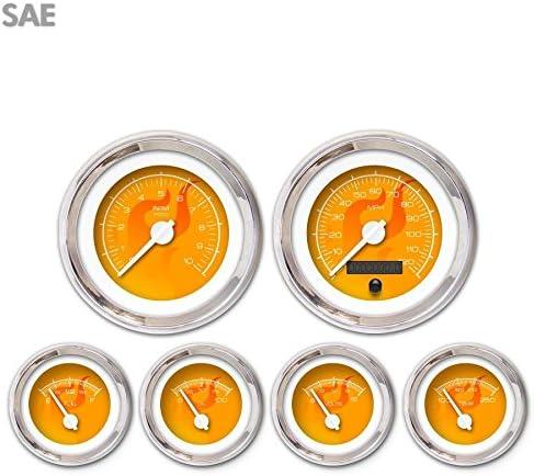 Aurora Instruments 3556 Ghost Flame Whit NEW Set 100% quality warranty Orange 6-Gauge SAE