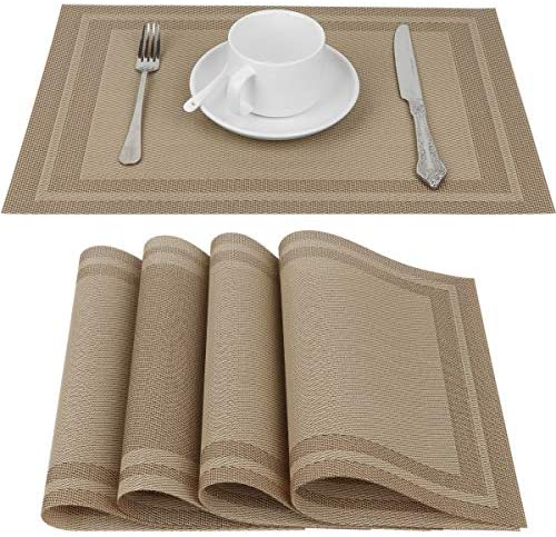 Placemat Crossweave Woven Vinyl Non Slip Insulation Placemats Heat Resistant Stain Resistant product image