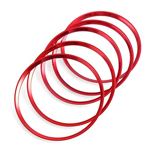 Lüftungsschlitze Dekoringe Dekoration Luftaustritt Lüftung Ringe rot Alu Legierung Styling Blenden Klima