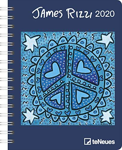 James Rizzi 2020 Diary - Buchkalender - 16,5x21,6cm -  Taschenkalender - Wochenplaner - Diary - Kunstkalender