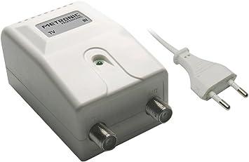 Metronic 414111 Fuente de alimentación para amplificadores de Antena, Blanco