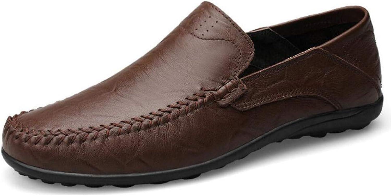 Willsego Herren Lederschuhe Frühjahr Herbst Komfort Loafers & Slip-Ons Wanderschuhe Formale Schuhe Fahrschuhe Faule Schuhe Leichte Sohlen (Farbe   B, Gre   38)