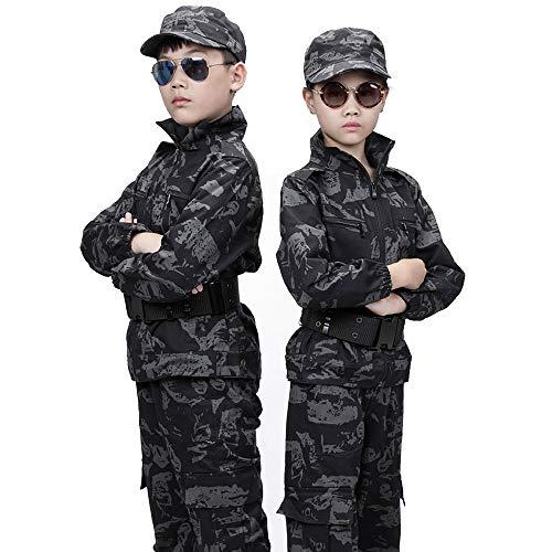 MKJYDM Im Freien kampierende wandernde Tarnungskleidungskinder der Männer militärische Trainingskleidungseltern-Kinderkleidung Tarnen (Size : 150(Child))