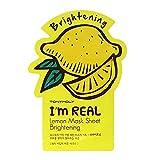 TONYMOLY I'm Real Lemon Brightening Mask Sheet, Pack of 1