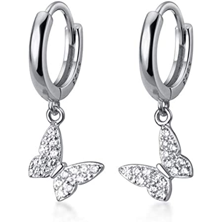 Butterfly Bugs Stud Earrings #14K Gold Plated over 925 Sterling Silver #Azaggi E0394G