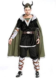 New Bull Demon Halloween Costumes Role-Playing Men's Clothing Style Party Dress Hobbit (Color : Black, Size : One Size)