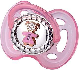 e96940eec12fb Sucette rose en argent et Swarovski avec petite fille referenza gfscri22
