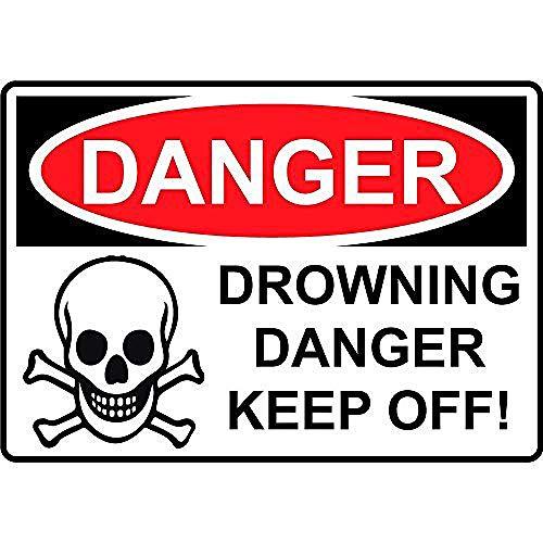 NOT Danger Drowning Danger Keep Off Cartel de Chapa de Metal Retro Cartel de Arte Pintado decoración Placa de Advertencia Bar cafetería Garaje Fiesta Sala de Juegos Oficina en casa Restaurante Bar