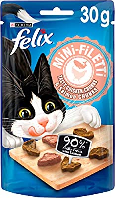 Felix Mini Filetti Cat Treats Chicken & Salmon 30g (Pack of 10)