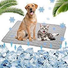 "Cooling Mat for Dogs Cats, Dog Cooling Mat Pet Self Cooling, Dog Cooling Pad Dog Cooling Supplies Cooling Mat, Pet Indoor/Outdoor Summer Pet Cooling Mat Dog Cat Bed Mats 28""x22"" Grey"