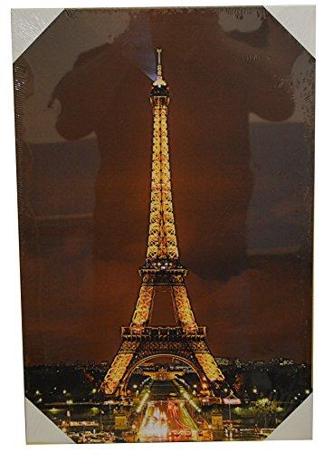 "LED Bild ""Eifelturm"" Paris, 60x 40 cm, Neu"