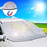 DIAOCARE Sonnenschutz Auto Frontscheibe,Sommer UV-Schutz Sonnenblende Auto Frontscheibe Windschutzscheiben Abdeckung für PKW, SUV, Trucks und Vans,148 x 118 cm