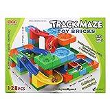 Juego lógico para niños construcciones Torre con 128 bloques de colores y 5 bolas juguetes educativos Montessori