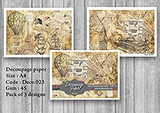 iCraft Decoupage Papers,Set Of 3(23-AB)