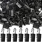Teenitor 100 Pack Curtain Clips Stainless Steel Light Hanger Hooks Christmas Party Decor Supplies for Camp Tent Awning Light Photo Display Indoor and Outdoor Decoration