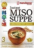 MARUKOME Sopa instantánea de miso y tofu frito 60 g