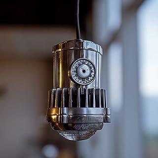 HSPHFX Steampunk Industry Ceiling Chandelier Mechanical Bullet Shade Aluminium Craft Handmade Vintage Droplight LED Warm S...